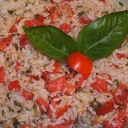 Brown Rice, Tomatoes, & Basil
