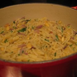 Toasted Orzo With Pine Nuts