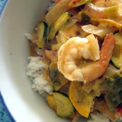 Shrimp with Masala and Coconut