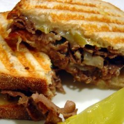 Cheesesteak Panini recipe