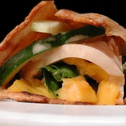 Smoked Turkey and Mango Wrap recipe