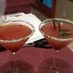 Ruth Chris's Raspberry Rosemary Martini