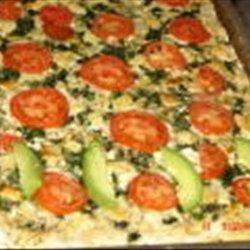 Spinach Feta Tomato Pizza