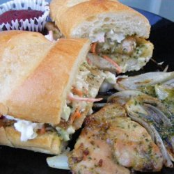 Grilled Cilantro-Lime Pork Loin Sandwiches With Coleslaw