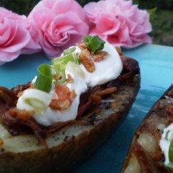 Grilled BBQ Potato Skins