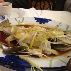 Steamed Fish with Ginger and Onions