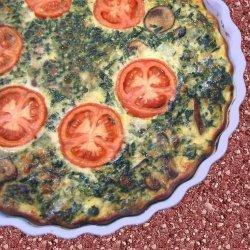 Spinach & Tomato Crustless Quiche