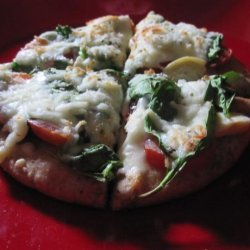 Super Healthy Veggie Pita Pizza