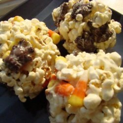 Loaded Candy Popcorn Balls