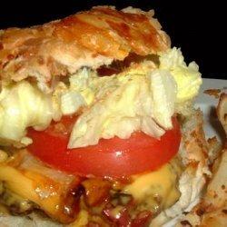 Sun-Dried Tomato/Pesto Burger for 2