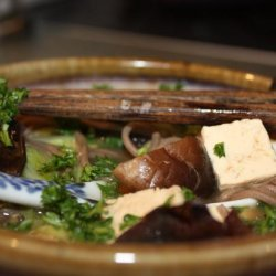 Japanese Style Chicken in a Pot Soup