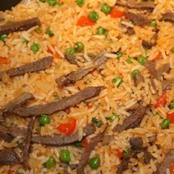 Hungarian Rice With Meat (Husos Rizs)
