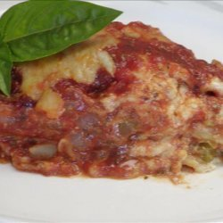 Lasagna With Saucy Sausage, Peppers & Onions