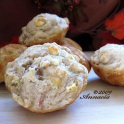 White Chocolate Apple Muffins