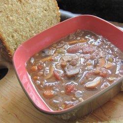 Mushroom Lentil Soup (Crock Pot)