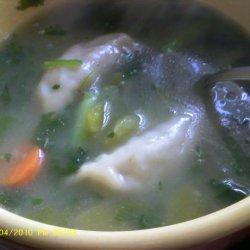 Green Chili Won Ton Soup