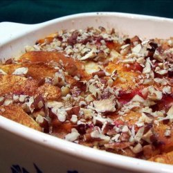 Baked Peach French Toast recipe