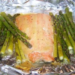 Honey Mustard Salmon and Asparagus (Foil Wrapped)