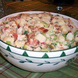 Potato Salad With Bacon, Olives, and Radishes