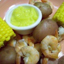 Cajun Shrimp and Sausage Boil With Garlic Mayo recipe