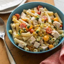 Pasta and Vegetable Salad with Chicken