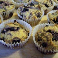 Blueberry Whole-Grain Corn Muffins