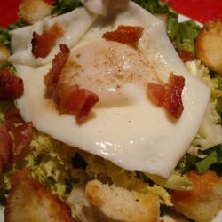 Baby Frisée With Poached Egg and Pancetta