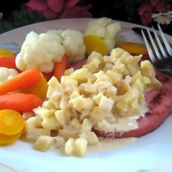 Ham Steak With Apples