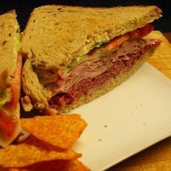 Ham on Rye Deli-Style Sandwich