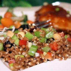 Spicy Wheatberry Salad recipe