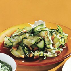 Shaved Zucchini Salad With Parmesan and Pine Nuts