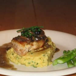 Quick and Easy Chicken Marsala With a Soft Creamy Polenta