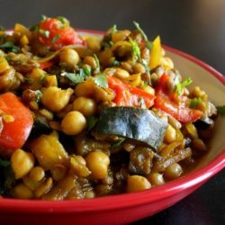 Moroccan Eggplant With Garbanzo Beans recipe