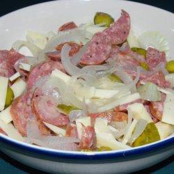 Wurst Salat (Pork Sausage and Cheese Salad)