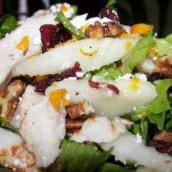 Sweet N Tangy Pear Salad With Chicken Strips