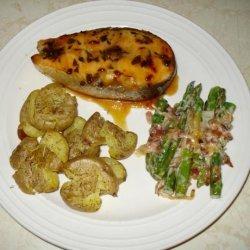 Oven Roasted Salmon With Honey-Mustard Sauce