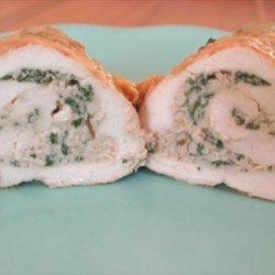 Chicken Breasts Stuffed With Spinach and Mushrooms