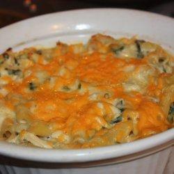 Three-Cheese Chicken Penne Florentine