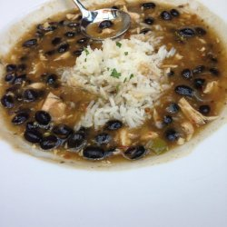 Spicy Black Bean and Chicken Soup
