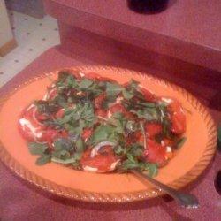 Tomato and Fresh Mozzarella Salad With Arugula & Peppers