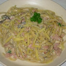 Low - Fat Fettuccine Carbonara  for One