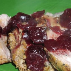 Pork Tenderloin With Gingered Cranberry (Or  Cherry) Sauce (5 Pt