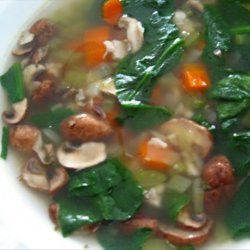Chicken, Spinach & Shiitake Mushroom Soup recipe