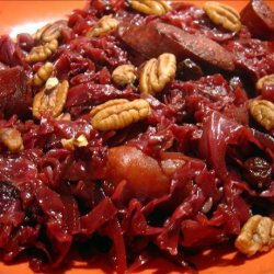 Sauteed Red Cabbage With Sausage
