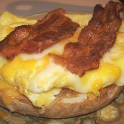 Bacon Bagel Cheese Sandwich