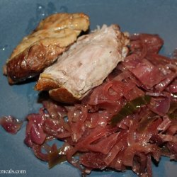 Slow Cooker Pork and Red Cabbage