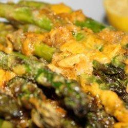 Lemon Roasted Asparagus Gratin