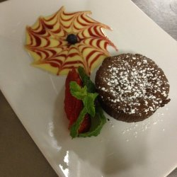 Molten Chocolate Cakes With Almond Creme