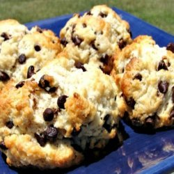 Fancy Double Drizzled Chocolate Chip Scones