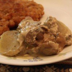 Crock Pot Mushroom Potatoes